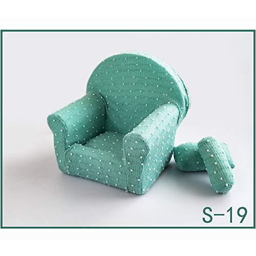 Pasgeboren Fotografie Props Sofa Set met 2 Kussens, Baby Foto Posing Aid Mini Sofa Stoel Photo Studio Props Fotografie Shoot Set voor 0-6 Maanden Baby s19