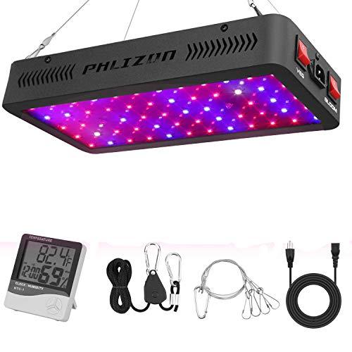 Phlizon Doppelschalter Serie 600W LED Pflanzenlampe Vollspektrum LED Grow Light Wachsen Lampe für Zimmerpflanzen