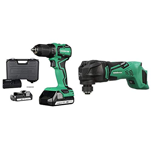 Metabo HPT 18V Cordless Driver Drill with Metabo HPT Cordless Oscillating Multi-Tool, Bare Tool - No Battery