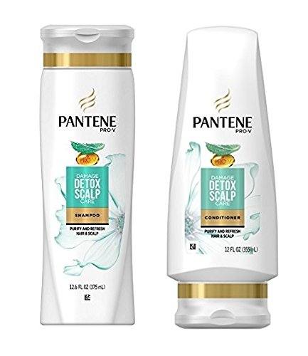 Pantene Damage Detox Scalp Care Shampoo 12 Conditioner Popular product oz Max 71% OFF Set