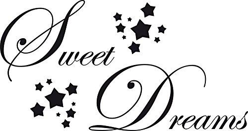 GRAZDesign Wandaufkleber Klebefolie Sweet Dreams - Schlafzimmer Tattoo Süße Träume übers Bett - Wandtattoo Schlafzimmer Sterne / 57x30cm / 720044_30_070