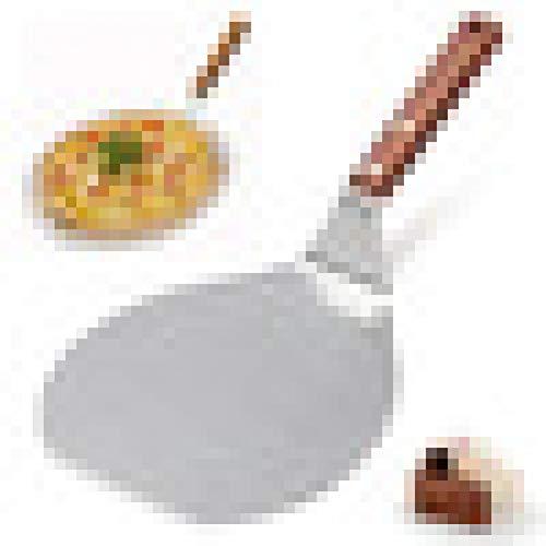 KUNHAN Pelle à Pizza 13 Pouces en Acier Inoxydable Pizza Spatule Peel Pelle Lifter Support De Plaque Bakin Silver Color Parfait pour Les Biscuits, Gâteaux, Petit