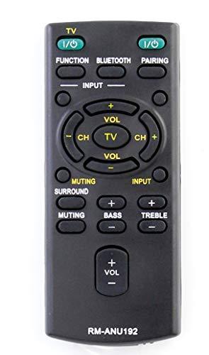 VINABTY RM-ANU192 Soundbar-Fernbedienung Kompatibel mit Sony Audio Systems HT-CT60BT HTCT60BT SA-CT60BT SACT60BT SS-WCT60 SSWCT60 HTCT60 HT-CT60 Ersetzt SONY RM-ANU191