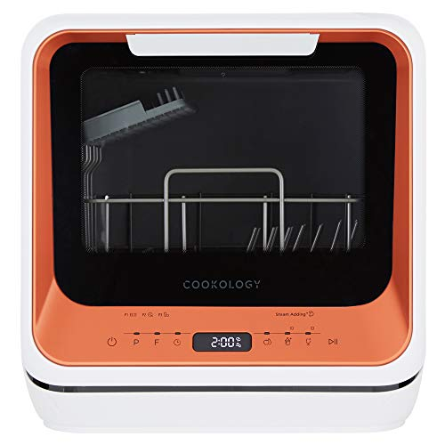 Cookology CMDW2ORG Mini Portable Dishwasher Table Top with Baby Care & Fruit Wash