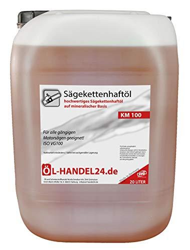 Kettenöl 20 Liter KM100 Sägekettenhaftöl Sägekettenöl Haftöl Motorsägenöl hochwertiges Sägekettenhaftöl auf Mineralölbasis