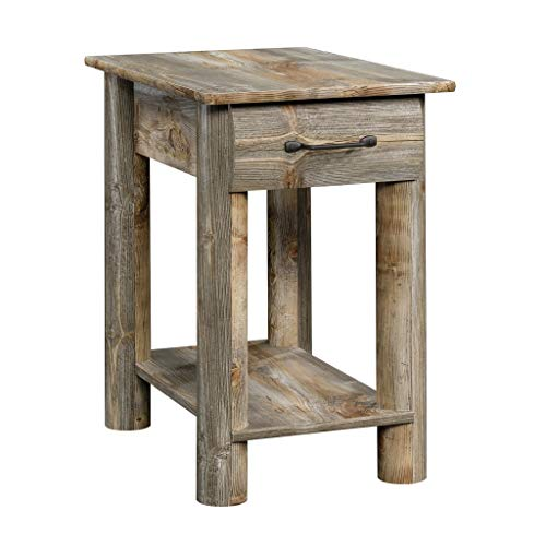 Sauder 424607 Boone Mountain Side Table, Rustic Cedar Finish