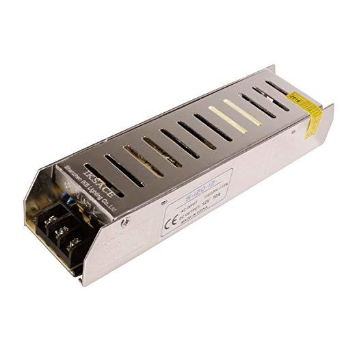 IKSACE 12V LED Netzteil Monitor Treiber Heimgebrauch Adapter Industrietransformator für LED-Streifen Industrielle Stromversorgung Monitor Treiber Adapter Transformator 120W DC12V 10A für LED-Streifen