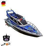 RC ferngesteuertes Polizeiboot Kstenwache Schiff, Ready-to-Run, 430mm, inkl. Akku, Ladegert, Zubehr, Top-Design