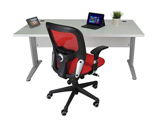 Mesa de Oficina. Euro 3000. Color Gris. 160x80 cm. Patas en T de Metal.