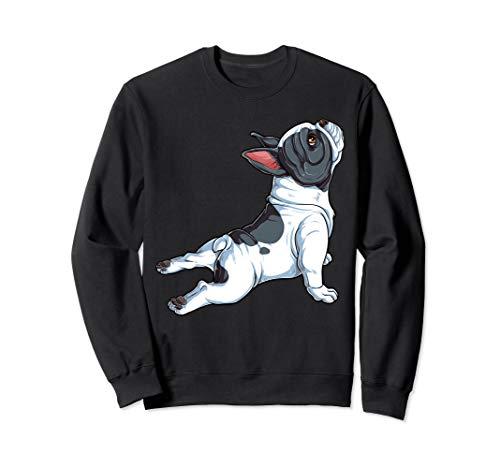 French Bulldog Yoga Sweatshirt Frenchie Namaste Funny Gift