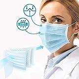 Medizinischer Mundschutz - Typ IIR, BFE: 98%, Zertifiziert: DIN EN 14683, 50-1000 STK, 3-lagig, Blau - OP Masken, Mund und Nasenschutz, Einweg Gesichtsmaske, Einwegmasken, Schutzmasken, Maske (100)