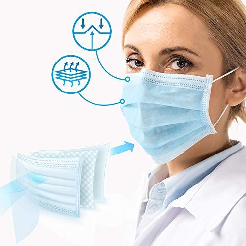 Virshields® Medizinischer Mundschutz - Typ IIR, BFE 98% / VFE 99,6%, DIN EN 14683, Made in EU, 100 STK, 3-lagig - OP Masken, Mund und Nasenschutz, Einweg Gesichtsmaske, Einwegmasken, Schutzmasken