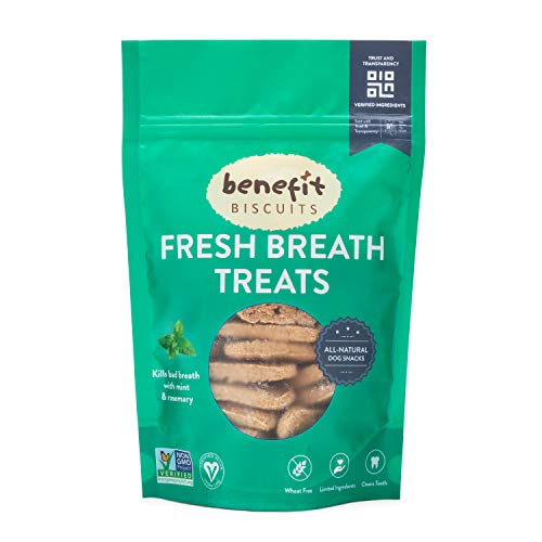 Benefit Biscuits, All Natural Dog Treats, Vegan, Non GMO, Healthy Dog Biscuits, Made in USA