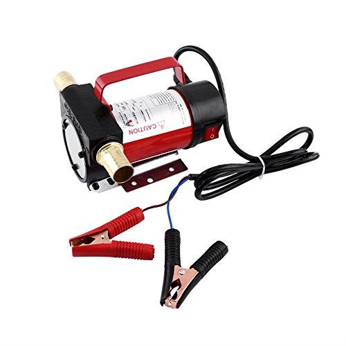 Pompe de Transfert de Carburant Électrique, Pompe de Carburant Auto-Amorçante Pompe à Fluide / à Huile / à Diesel 12V 160W 40L/min avec Filtre pour Voiture
