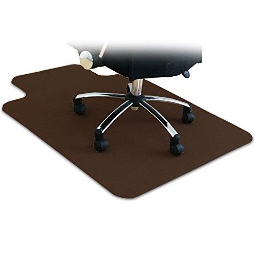 ottostyle.jp 床を保護するチェアマット カーペットタイプ ブラウン 120cm×90cm 厚さ3mm フローリングや畳...