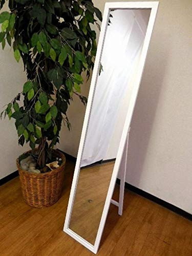 『NaturalHouse スタンドミラー 白 幅27cm 高さ140cm 木製 飛散防止加工』の6枚目の画像