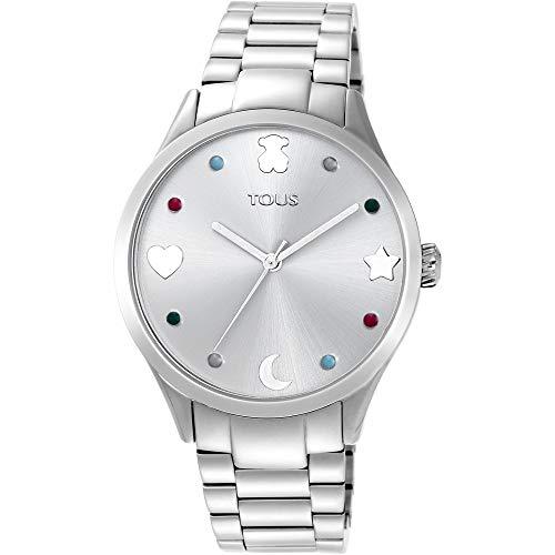 Reloj Tous Super Power de Mujer, en Acero con Piedras de Colores, Ref. 800350710.