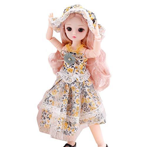 Mueca nia juguete 30 cm mueca princesa vestir 23 articulaciones 3D ojos reales 6 puntos BJD regalo de cumpleaos