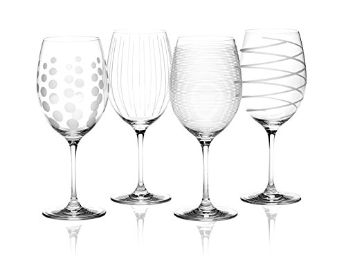 MIKASA Bicchieri da Brindisi Martini, 290 ml, 4 Pezzi, Vetro, Argento, 20 x 17 x 17 cm