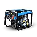 HIOD Gruppo Elettrogeno Diesel - Monofase (1 Fase), 5500W, 5.5kva, 230v, Corri 8h Generatore di Emergenza