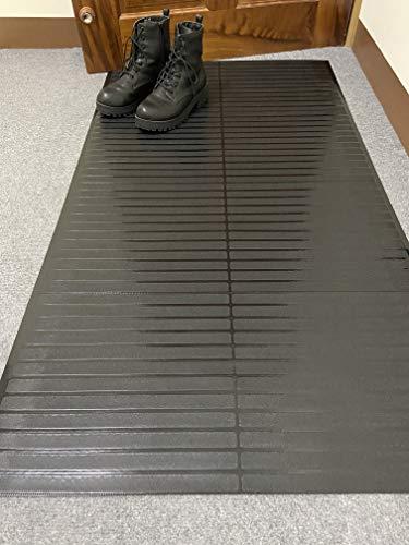 Ottomanson Black Vinyl Runner MultiGrip Carpet-Protector Mat