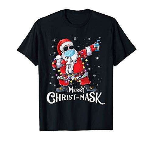 Funny Christmas 2020 Santa Dabbing Wearing Mask Gift T-Shirt