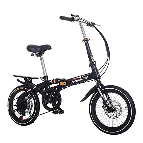 DHMKL 14/16/20 Pulgadas Bici Infantiles Bicicleta MontañA NiñOs Cuadro Manillar Plegables Bicicletas Velocidad Variable Amortiguadoras Masculinas Femeninas Adecuadas Estudiantes Adultos