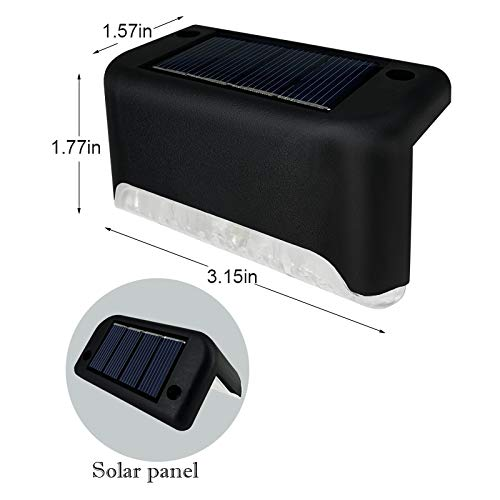 Codian 16 Pack Solar Deck Lights, Solar Deck LED Lights for Outdoor, Waterproof Solar LED Lights for Deck, Step, Railing, Wall, Patio, Garden, Stair, Yard and Driveway Path (Warm White)