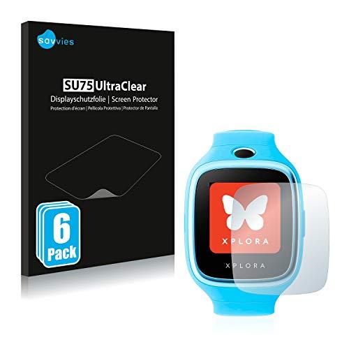 Savvies 6X Schutzfolie kompatibel mit Xplora 3S Bildschirmschutz-Folie Ultra-transparent