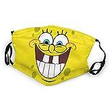 SpongeBob Joy Mundschutz Anti-Staub Waschbar Wiederverwendbarer Mundschutz Modedesign für Kinder Jungen Mädchen Teenager