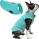 Gooby Dog Fleece Vest - Turquoise, X-Large - Pullover Dog Jacket with Leash Ring - Winter Small Dog Sweater - Warm Dog Clothes for Small Dogs Girl or Boy for Indoor and Outdoor Use