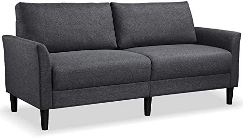 YAHEETECH Modern Loveseat Sofa Couch Linen Fabric Upholstery Sofa Couch Love Seat Flared Armrests product image