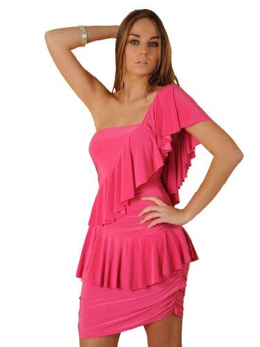 italy gownplanet zwart wit roze Beyounce beroemdheid stijl ruches geplooide Mini Bodycon Cocktail jurken