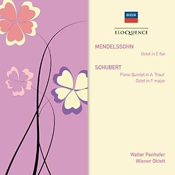 """Mendelssohn: Octet; Schubert: Piano Quintet in A - """"Trout""""; Octet"""