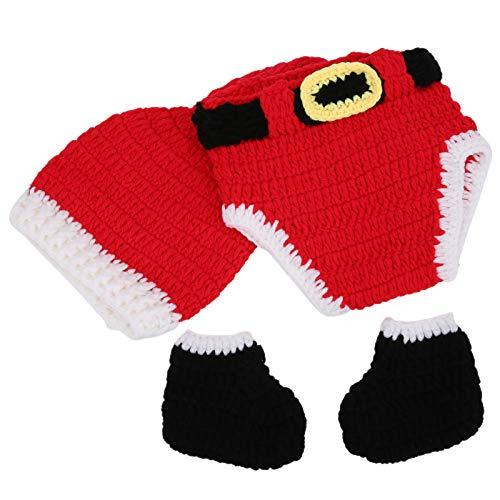 Accesorios de fotografía para bebés Ropa de Navidad de ganchillo para bebés...