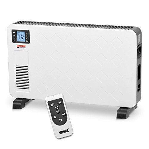 Hecht 3623 Radiateur électrique mobile chauffage 3niveaux de puissance jusqu'à 2300 watts, écran LCD, télécommande, thermostat et minuterie au design moderne