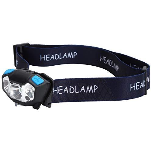 Vbestlife Linterna Frontal Recargable, Linterna Frontal LED Súper Brillante con Control De Sensor, Luz De Senderismo con Carga USB, 6 Modos De Iluminación, para Correr, Pescar, Acampar