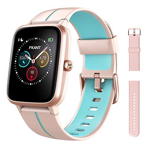 Smartwatch Donna, Orologio Fitness Uomo con GPS Integrato Touchscreen Completo Impermeabile 5ATM Quadrante Personalizzato Cardiofrequenzimetro Sonno Contapassi Notifiche Messaggi per Android iOS