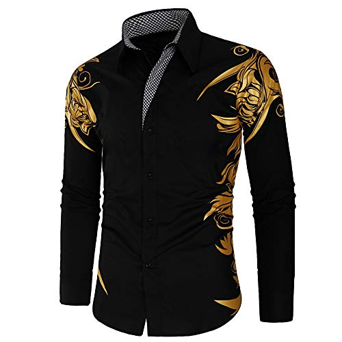 Jinyuan Camisas de Hombre Primavera otoño características