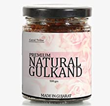 CoralTribe Premium Quality Gulkand Made from Damask Rose Petals  Finest Rose Preserve   Ecofriendly Glass jar - 500 gm