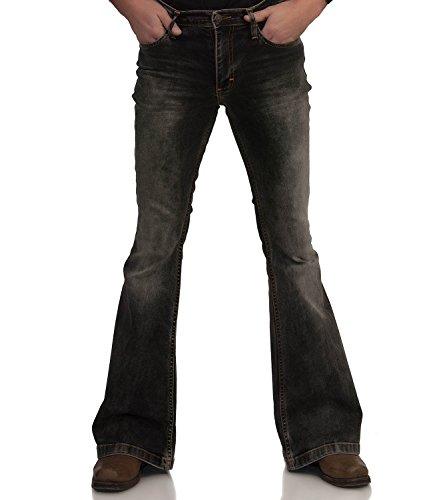 Comycom Stretch Jeans slagbroek zwart gewassen