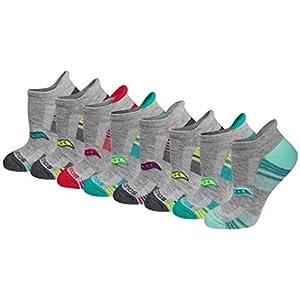 Saucony Women's Performance Heel Tab Athletic Socks (8 & 16, Grey Assorted (8 Pairs), Shoe Size: 5-10