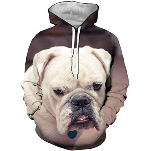 Bonitos Animales Boxer Dog 3D Print Hoodie Moda Anime Funny Dog Sudadera Forest Autumn Leaf Top Ropa de...