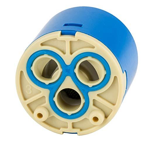Keramik-Kartusche 35 mm für Armaturen Ersatzkartusche Einhebelmischer Wasserhahn Kartusche Ersatz