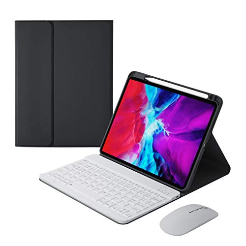 Bolen for iPad Upper Pen Slot Bluetooth Keyboard Leather case Keyboard Tablet case_Black_ iPad Air4 10.9 (Compatible with Pro11 (2020/2018)
