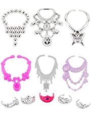 IrahdBowen Barbie doll clothes set Including 12 pairs of shoes 12 doll skirts 5 tiaras 6 Accessories for Barbie Doll For Organza Drawstring Pouches Gift Packing Xmas Birthday Gift35 Pcs frugal