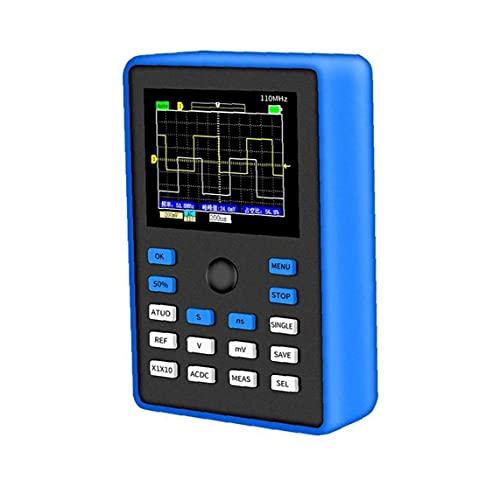 Osciloscopio digital Profesional 500ms / S Tasa de muestreo 110MHz Ancho de banda analógico ASWIDTH 2.4InCH Support Forma de onda Almacenamiento azul Precisión