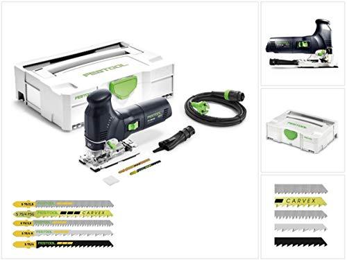 Festool PS 300 EQ-PLUS Pendelstichsäge 720W 120mm im Systainer (561445) + 27x Stichsägeblatt
