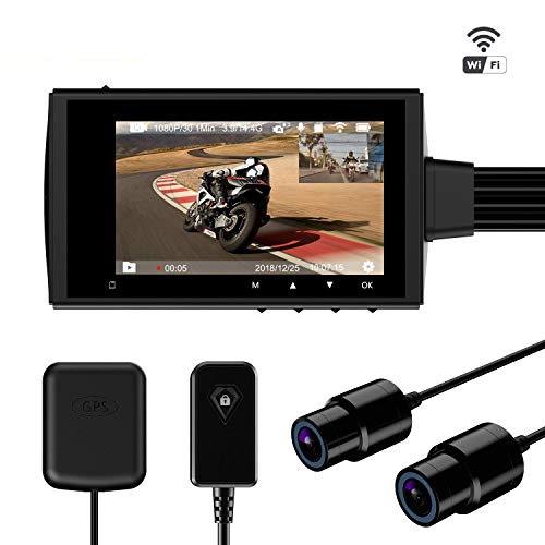 Motowolf M3 Motorcycle Dash Camera Security System DVR Waterproof Dual Lens...