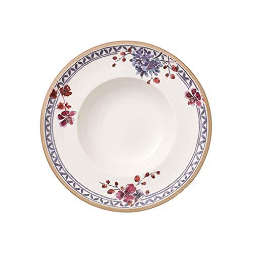 Villeroy & Boch Artesano Provençal Lavanda Piatto Fondo, 25 cm, Porcellana Premium, Bianco/Multicolore